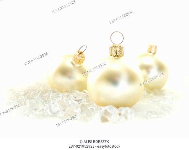 Goldene Weihnachtskugeln.Drei Eis Stock Photos And Images Age Fotostock