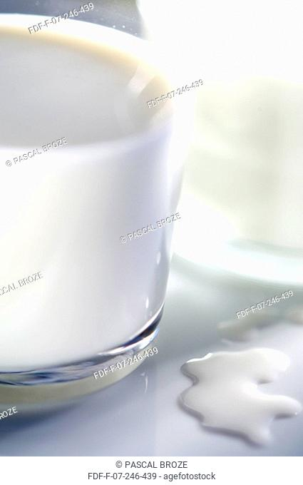 Close-up of a glass of milk
