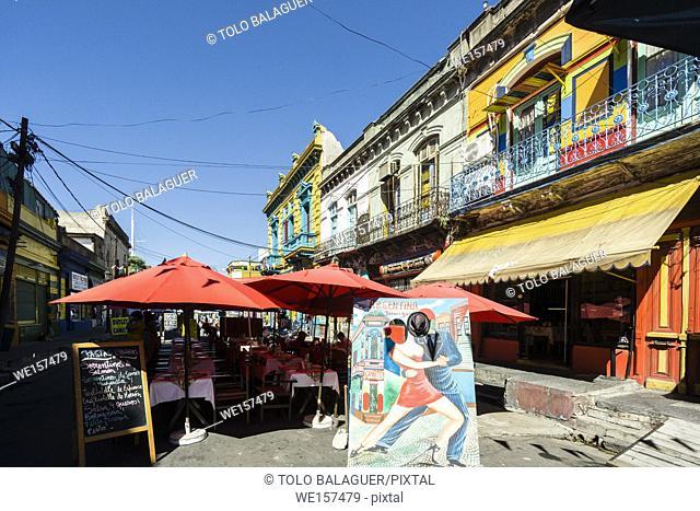 caminito, barrio de La Boca, Buenos Aires, republica Argentina, South America