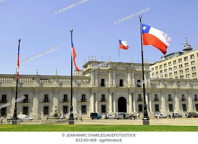 Palacio de La Moneda seat of the President of the Republic of Chile, Santiago de Chile, Chile
