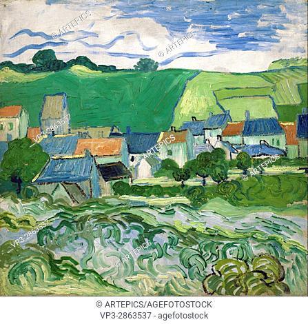 Vincent van Gogh - View of Auvers - Van Gogh Museum, Amsterdam