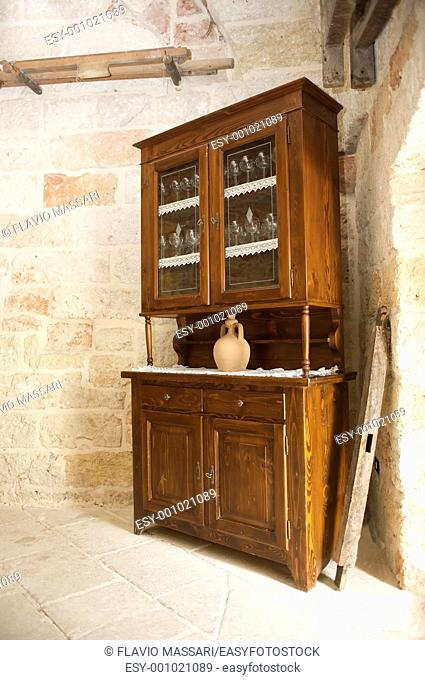 old country style cabinet