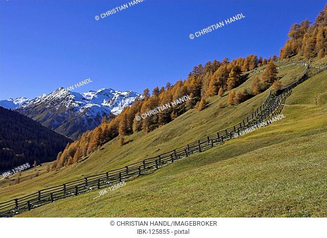Traditional made wooden fence, South Tyrol, Italy