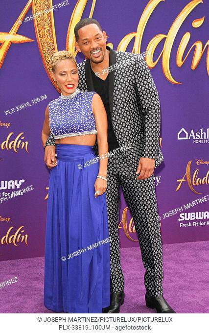 "Will Smith, Jada Pinkett Smith at The World Premiere of Disney's """"Aladdin"""" held at El Capitan Theatre, Hollywood, CA, May 21, 2019"