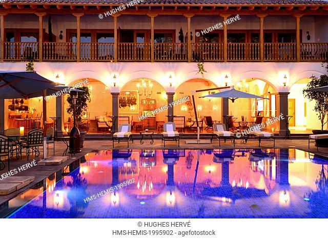 Peru, Cuzco province, Cuzco, listed as World Heritage by UNESCO, Plaza de las Nazarenas, Belmond Palacio Nazarenas Hotel settled in a 16th century convent