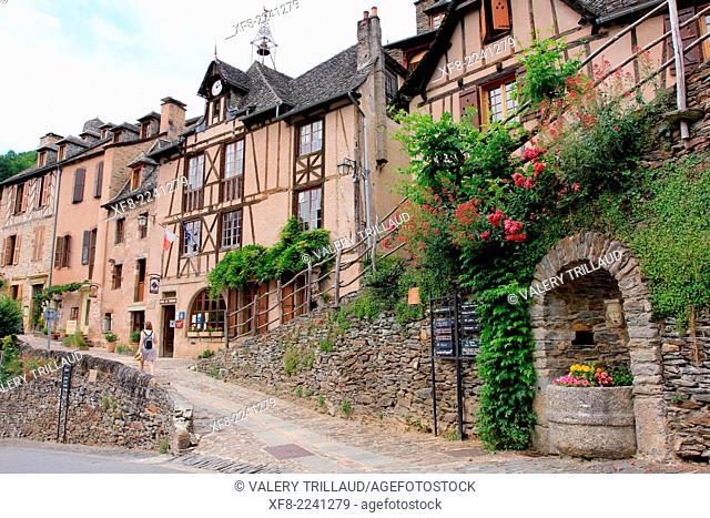 The village of Conques, Aveyron, Midi-Pyrénées, France