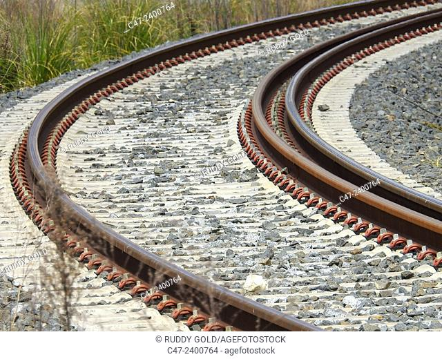 Track train, Barcelona, Spain