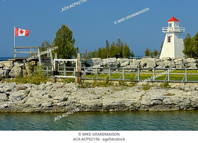 lighthouse on Georgian Bay at South Baymouth on Manitoulin Island, Ontario, Canada