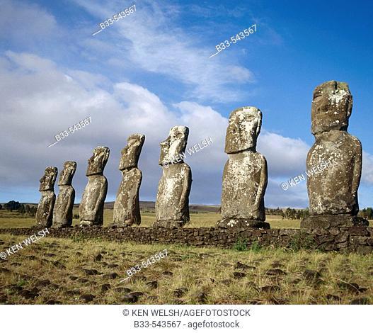 Ahu Akivi. Easter Island. Chile