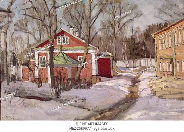 Country Estate in Winter, 1904. Found in the collection of the National Art Museum of Belorussian Republik, Minsk