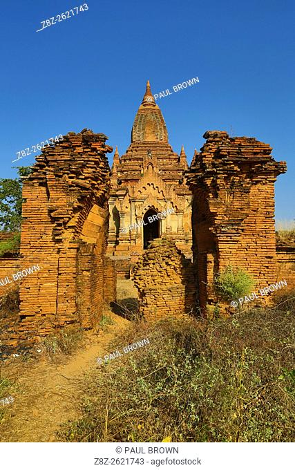 Shwe Leik Too Pagoda in Bagan, Myanmar (Burma)