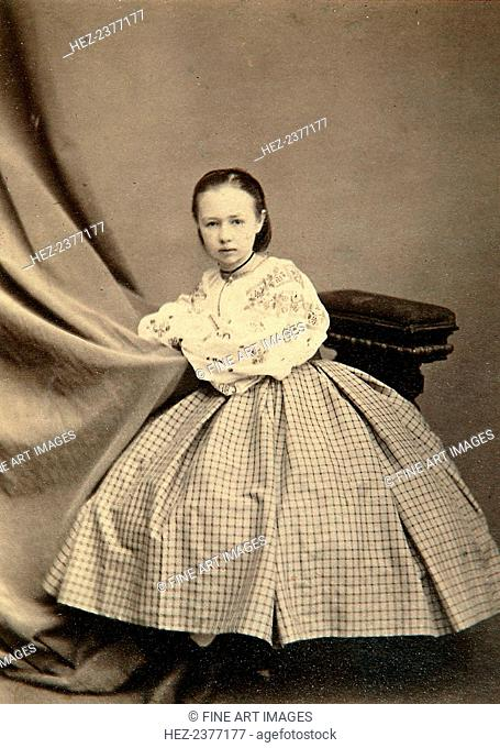 Childhood portrait of Sophia Perovskaya, 1860s. Sophia Perovskaya (1853-1881) was a Russian revolutionary and a member of Narodnaya Volya (People's Will)