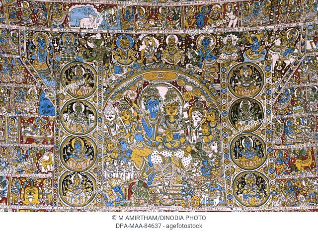 Kalamkari paintings Ramayana story