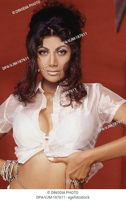 1999, Portrait of Indian film actress Shilpa Shetty
