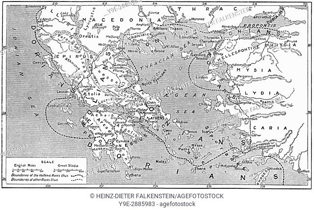 Historic Map Ancient Greece Stock Photos And Images Age Fotostock