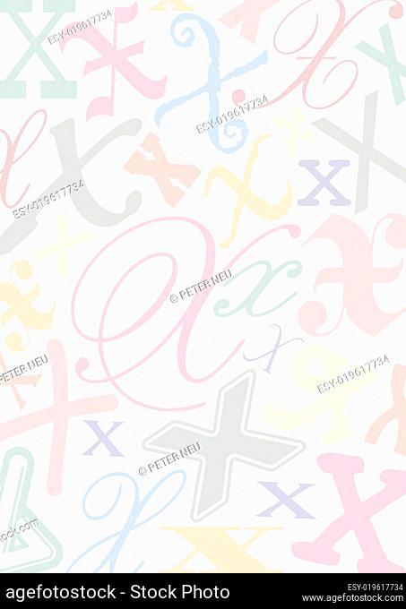 Hintergrund mit Buchstaben X