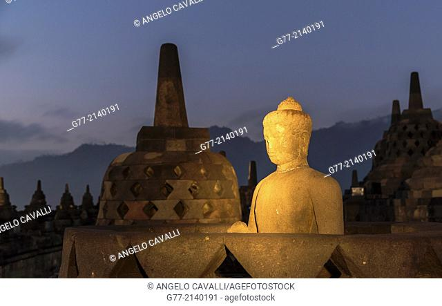 Buddhist Temple of Borobudur, Java, Indonesia