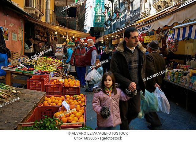 Market  Catania  Sicily  Italy
