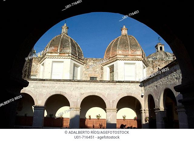 Museo Nacional de la Muerte (National Museum of the Death ), former Franciscan monastery of San Diego. Aguascalientes. Mexico
