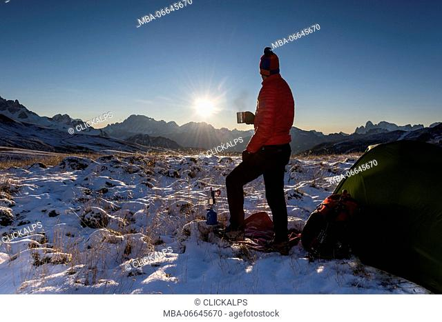 Dolomites, Fassa Valley, San Pellegrino Pass, Europe, Trentino, Alps, Italy