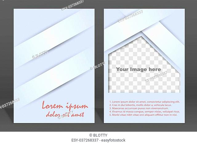 Vector brochure or magazine cover template. Illustration