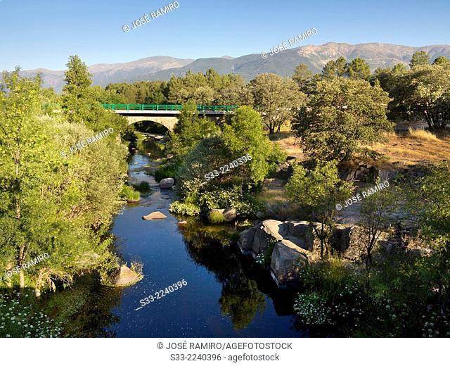 Tietar river in La Iglesuela. Toledo. Castilla la Mancha. Spain