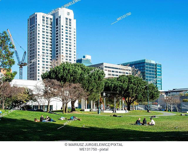 Yerba Buena Gardens is the name for two blocks of public parks located between Third and Fourth, Mission and Folsom Streets in downtown San Francisco