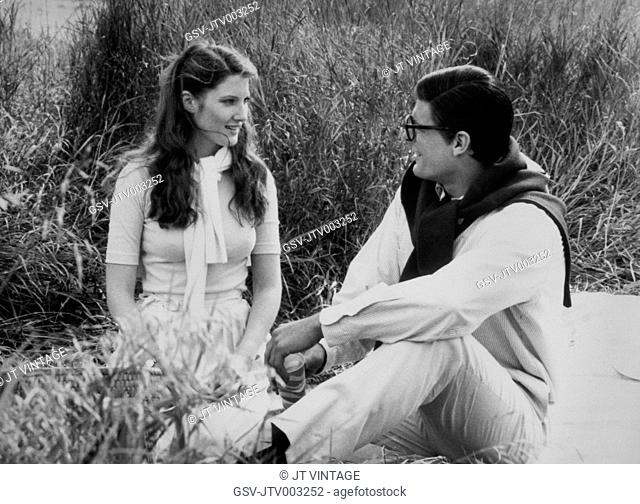 Christopher Reeve and Annette O'Toole, on-set of the Film, Superman III, 1983