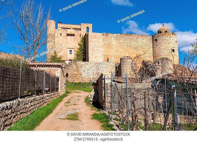 Palazuelos Castle, Guadalajara province, Castile La Mancha, Spain. Historical Heritage Site