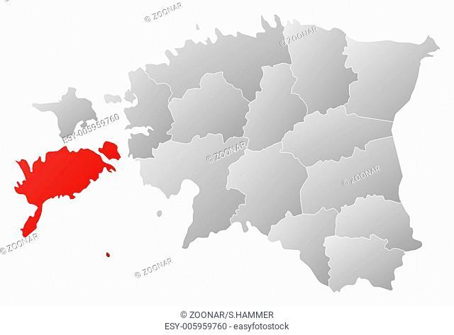 Map of Estonia, Saare highlighted