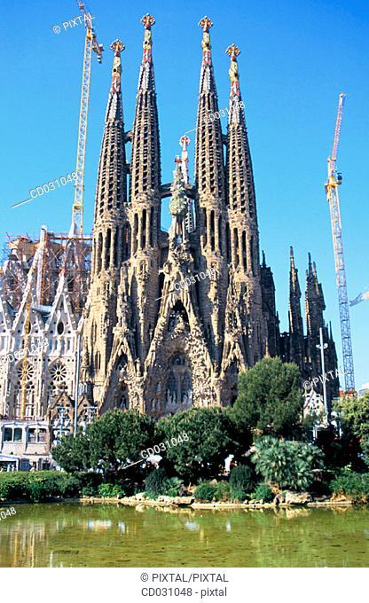 Sagrada Familia, Church of the Holy Family (Gaudí, 1883-...). Barcelona. Spain