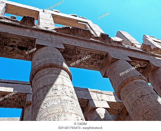 The columns are no time of a great temple Karnak in Luxor