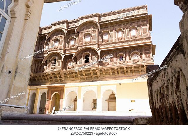 Different views of the magical Mehrangarh Fort. Jodhpur, Rajasthan. India