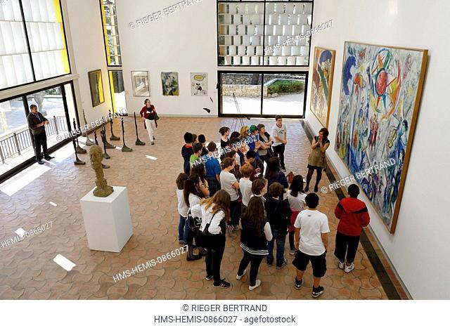 France, Alpes Maritimes, Saint Paul de Vence, Fondation Maeght by the architect Josep Lluis Sert, a museum of contemporary art