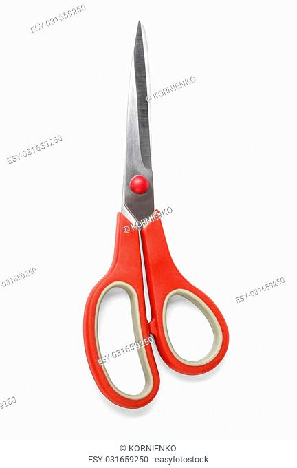 Scissors are hand-operated cutting instruments. Scissors are used for cutting various thin materials. with clipping path