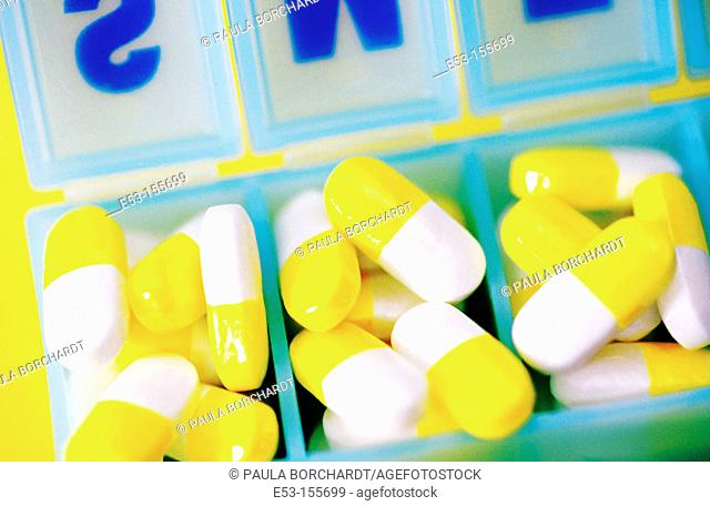 Pills in pill case
