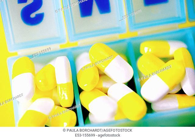Pills in pill case