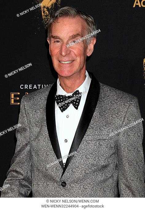69th Primetime Creative Arts Emmy Awards held at the Microsoft Theatre - Day 1 - Arrivals Featuring: Bill Nye Where: Los Angeles, California