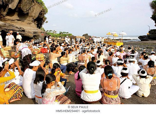 Indonesia, Bali, Tanah Lot temple, Odalan Birthday festival