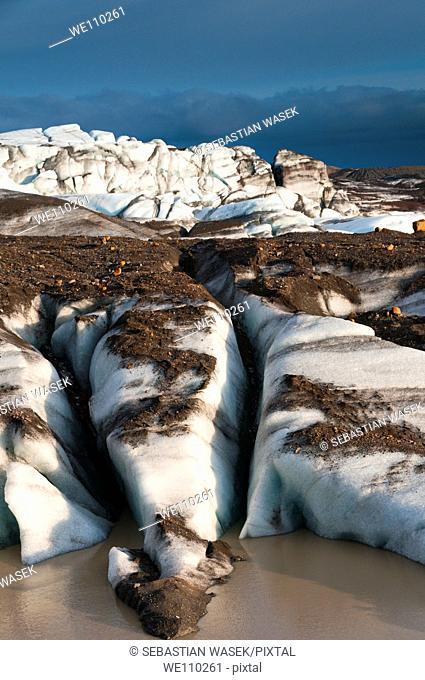 Vatnajokull, Iceland  Glacier, Skaftafelll, Iceland
