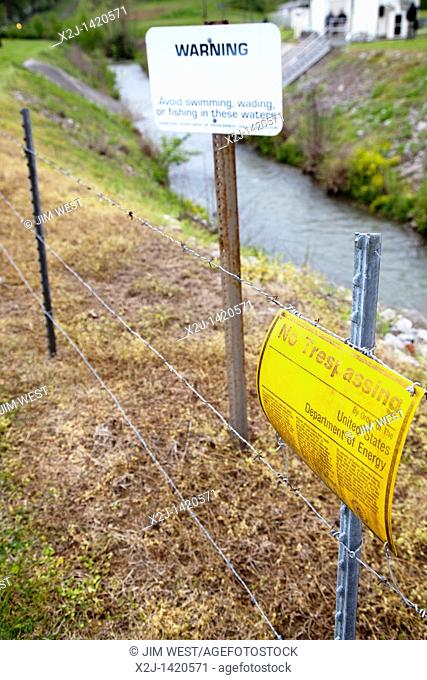 Oak Ridge, Tennessee - A contaminated creek just inside the boundary of the Y-12 National Security Complex, which produces materials for nuclear weapons  The...