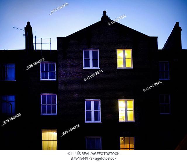 houses in South Kensington, London, uk