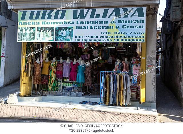 Bali, Indonesia. Women's Clothing Store, Klungkung, Semarapura