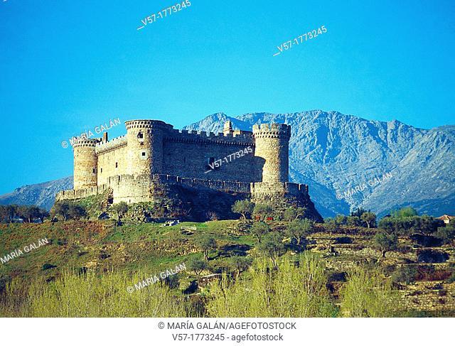 Castle. Mombeltran, Avila province, Castilla Leon, Spain