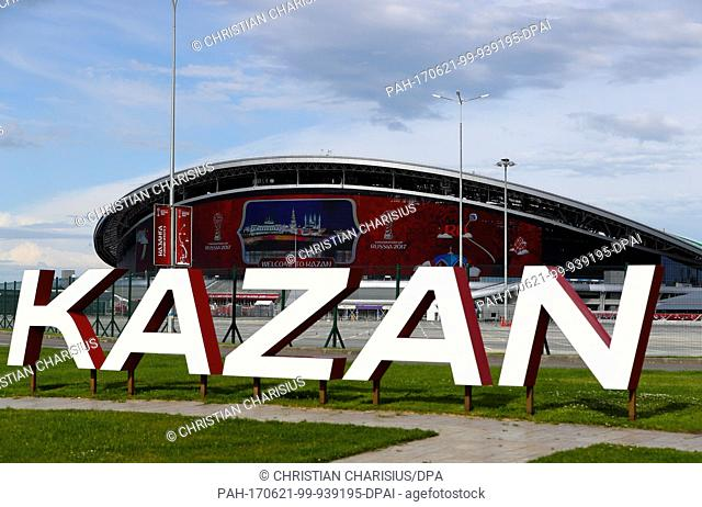 Picture of the Kazan Arena Stadium taken in Kazan, Russia, 21 June 2017. The German national team will face Chile here for their second Confederations Cup match...