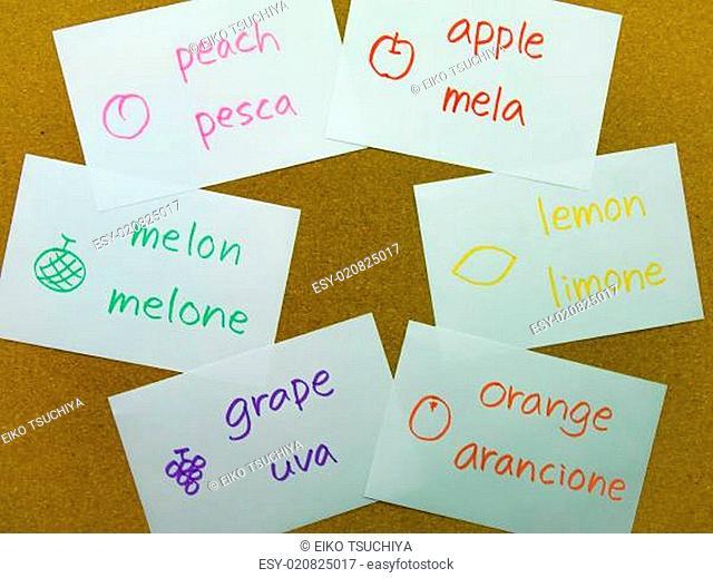 Language Flash Cards Italian