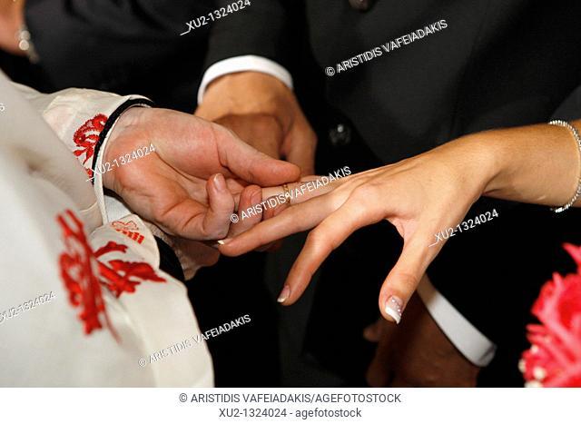 Greek Orthodox wedding. Athens, Greece
