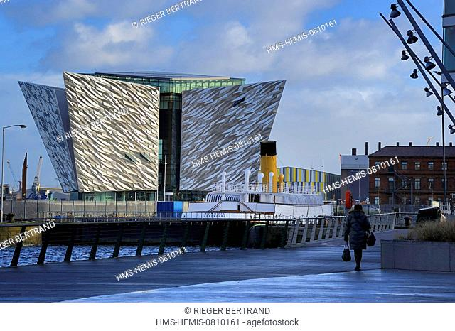 United Kingdom, Northern Ireland, Belfast, the new Titanic Quarter of Queen's Island, the SS Nomadic of the White Star Line built as a tender to the liners RMS...
