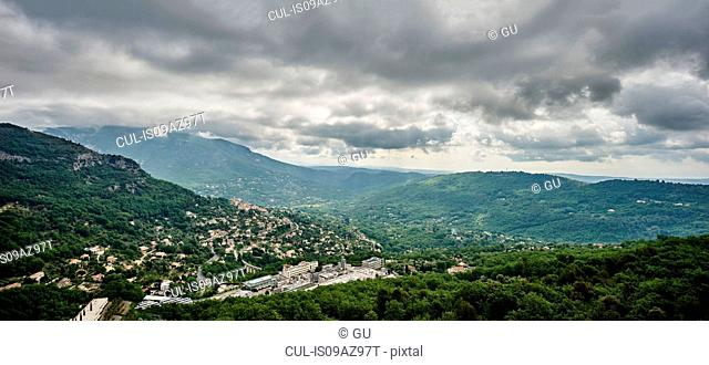 View of Le Bar-Sur-Loup, Alpes Maritimes, France