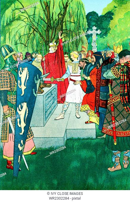 Arthurian legend refers to the vast body of medieval story that focuses on King Arthur of Britain. The first references to him, as early as c. A.D